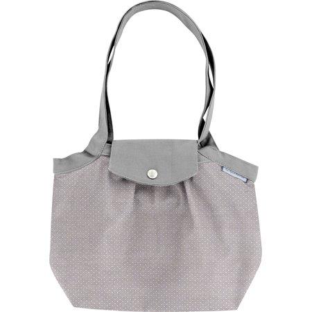 Petit sac cabas plissé etoile or gris