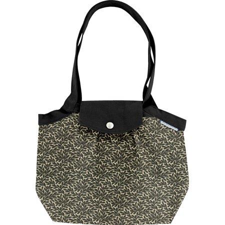 Petit sac cabas plissé feuillage