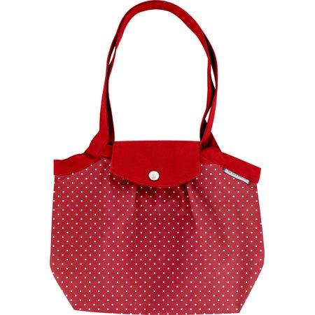 Petit sac cabas plissé pois rouge