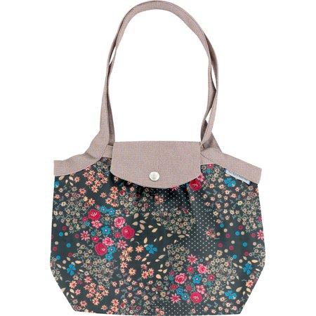 Petit sac cabas plissé rose argentée