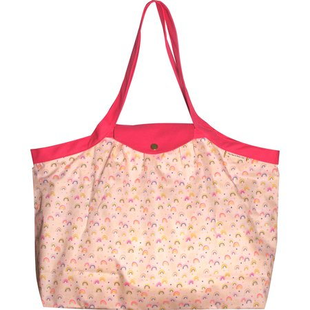 Tote bag with a zip rainbow