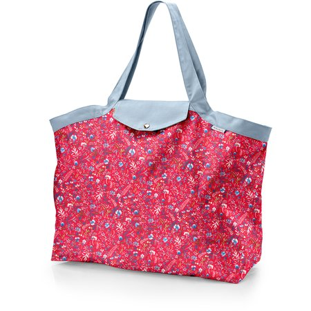 Tote bag with a zip cherry cornflower