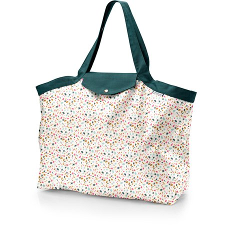 Tote bag with a zip sea side