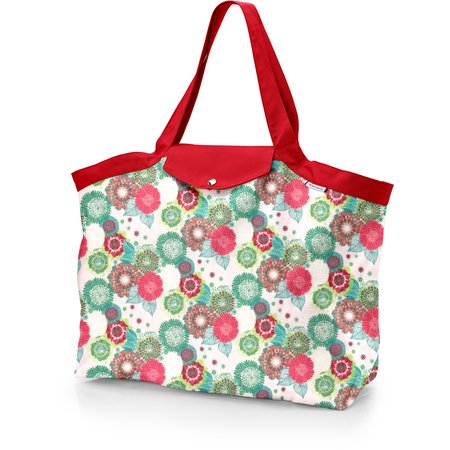 Tote bag with a zip powdered  dahlia