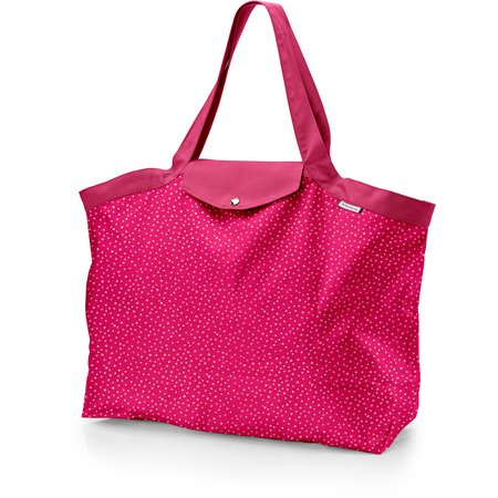 Tote bag with a zip etoile or fuchsia