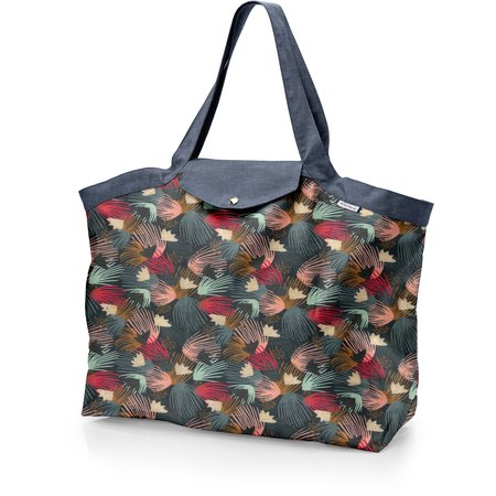Tote bag with a zip fireworks