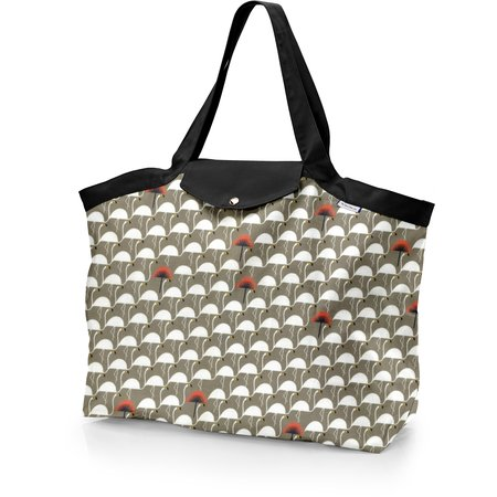 Tote bag with a zip flamingo