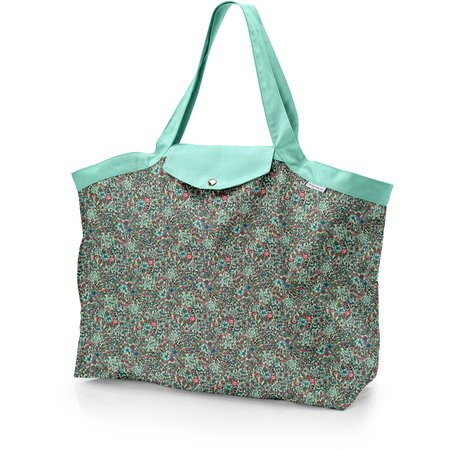 Tote bag with a zip flower mentholated