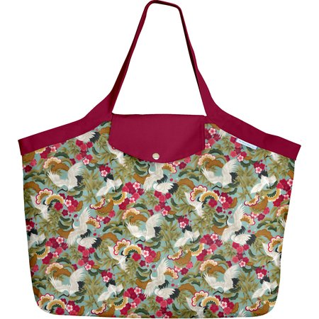 Tote bag with a zip ibis