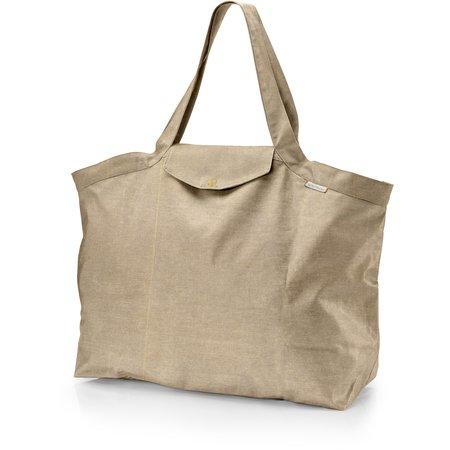 Grand sac cabas en tissu lin doré
