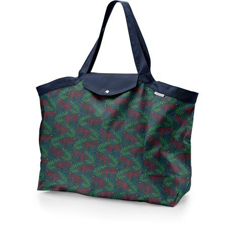 Tote bag with a zip wolf of the woods