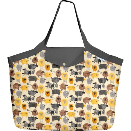 Grand sac cabas mouton jaune