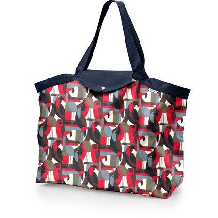 Tote bag with a zip pop bird