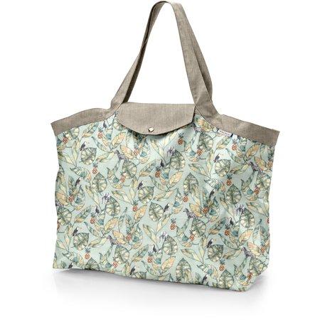 Grand sac cabas en tissu paradizoo mint