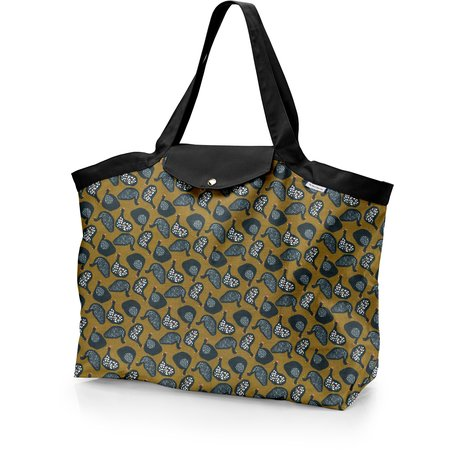 Tote bag with a zip hen facet