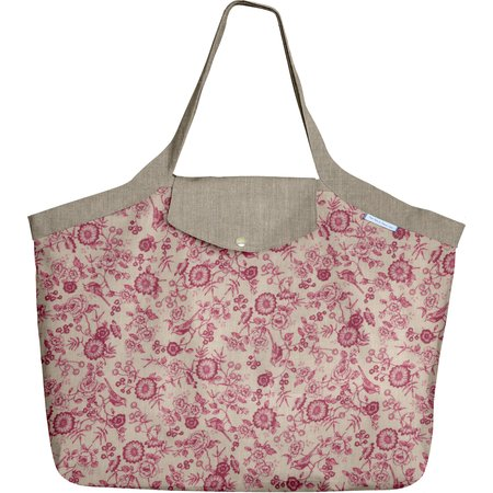 Tote bag with a zip nightingale