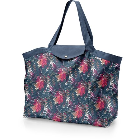 Tote bag with a zip tropical fire