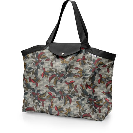 Tote bag with a zip wax fleuri