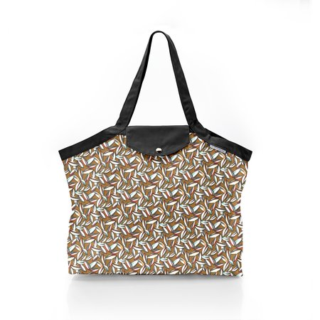 Pleated tote bag - Medium size cocoa pods
