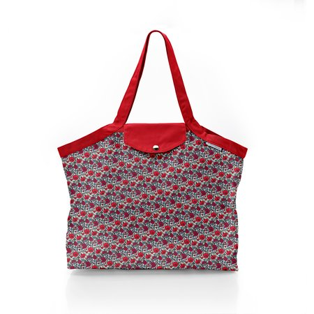 Pleated tote bag - Medium size poppy