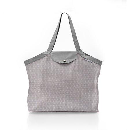 Bolso  cabas  mediano con cremallera etoile or gris