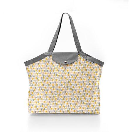 Pleated tote bag - Medium size pastel drops