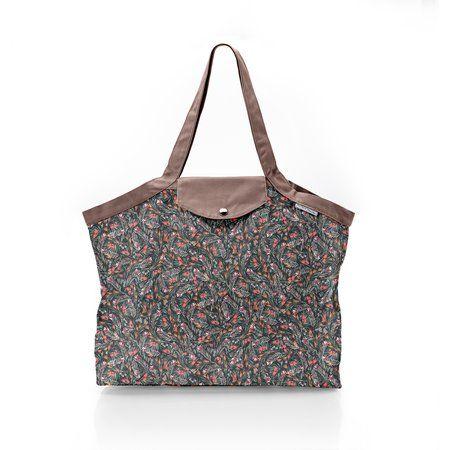 Pleated tote bag - Medium size grasses
