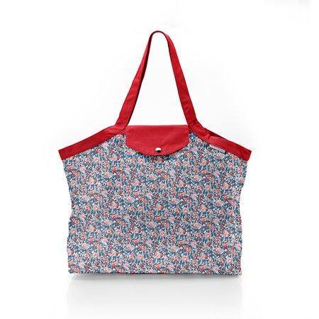 Pleated tote bag - Medium size flowered london