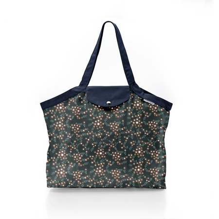 Pleated tote bag - Medium size fireflies