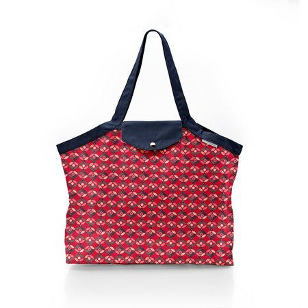 Pleated tote bag - Medium size paprika petal