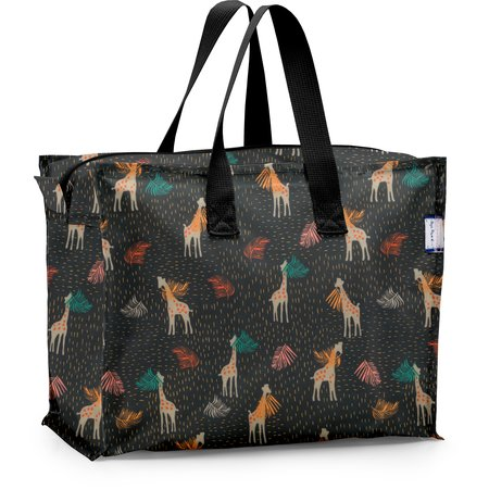 Sac cabas rangement petit palma girafe