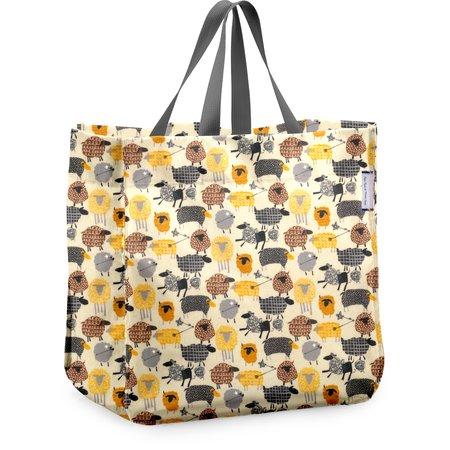 Shopping bag yellow sheep
