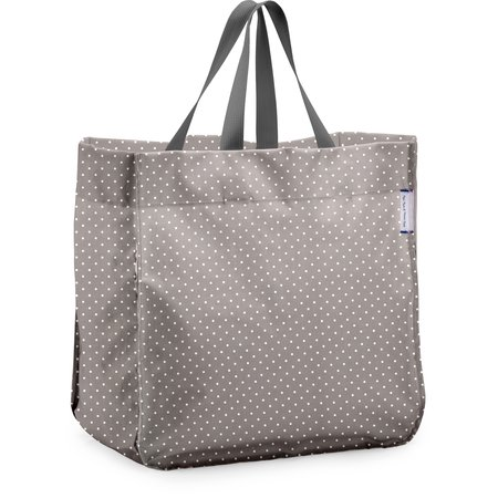 Sac cabas shopping pois gris clair