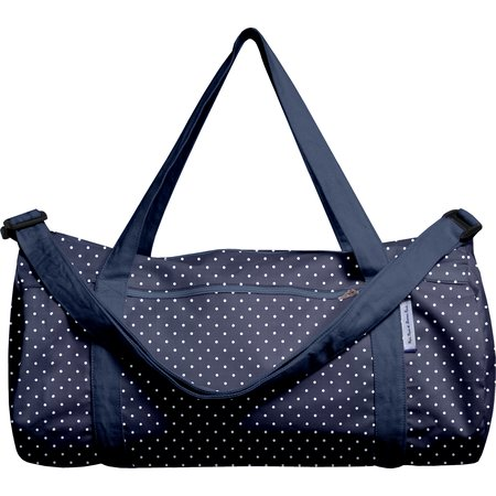 Duffle bag navy blue spots