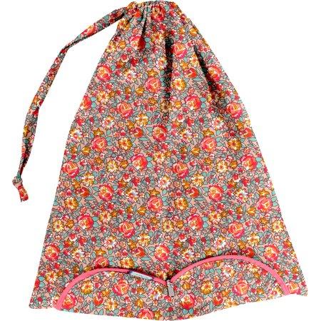 Bolsa para la ropa cuadrado de flores