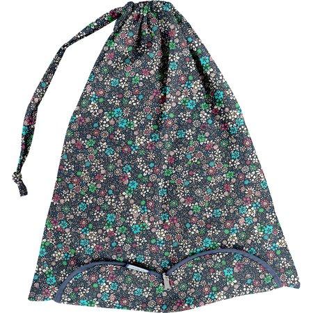 Sac lingerie milli fleurs vert azur