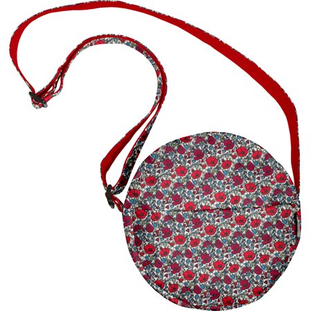 Sac rond coquelicot