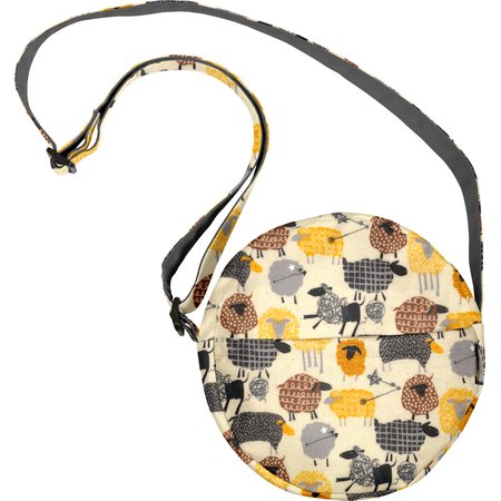 Round bag yellow sheep