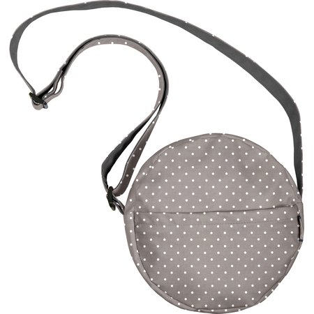 Round bag light grey spots