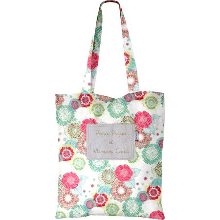 Tote bag powdered  dahlia
