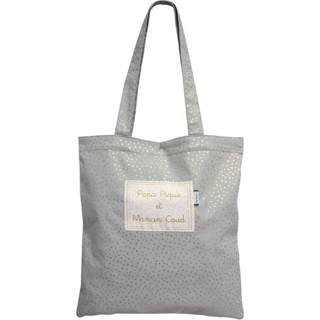 Tote bag etoile or gris