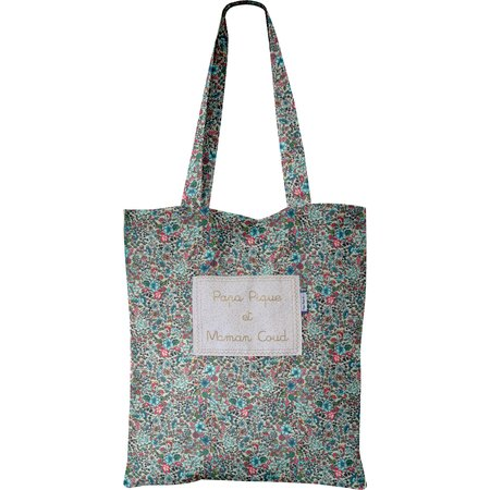 Tote bag flower mentholated