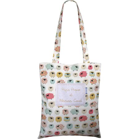 Sac tote bag mouton multicolore