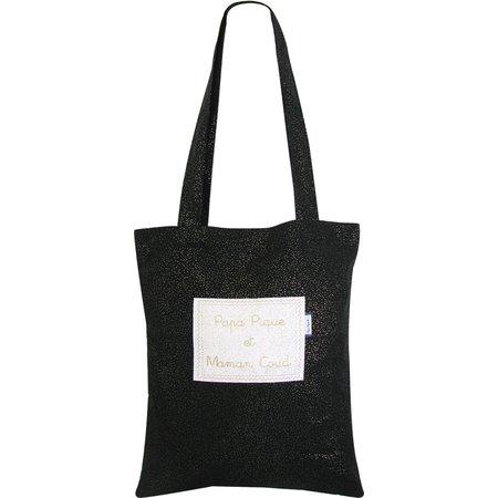 Tote bag noir pailleté
