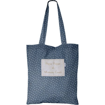 Sac tote bag paille argent jean
