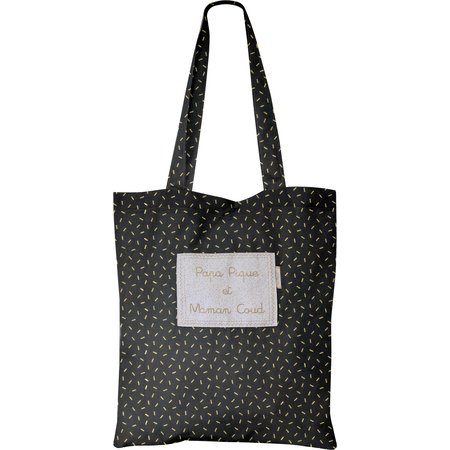 Tote bag golden straw