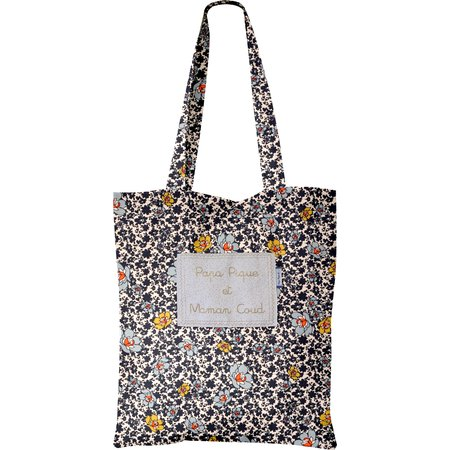 Tote bag ochre flower
