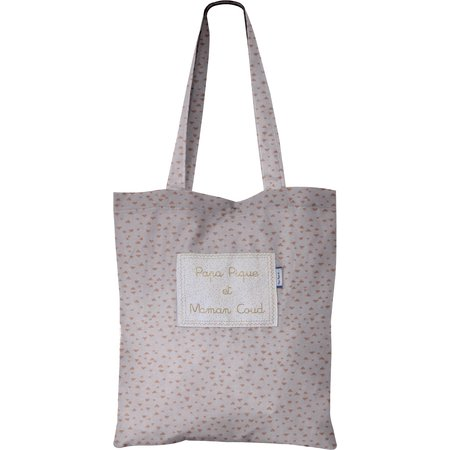 Tote bag triangle cuivré gris