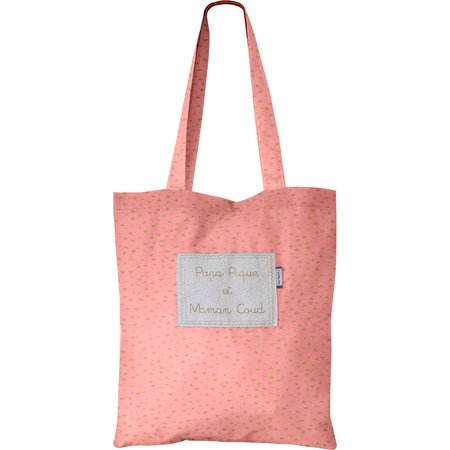 Sac tote bag triangle or poudré