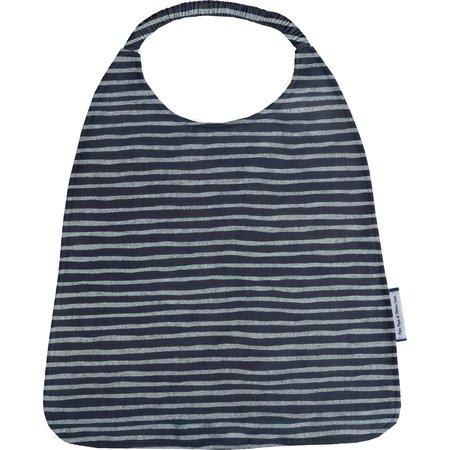 Elastic napkin child striped silver dark blue
